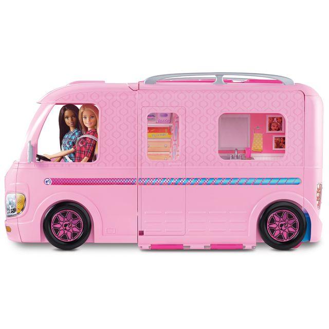 mattel barbie camping car transformable fbr34 pas. Black Bedroom Furniture Sets. Home Design Ideas