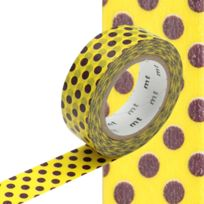 Masking Tape - Mt 15 mm Pois choco fond jaune - MT