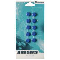 Majuscule - punaise magnetique d12 bleu - blister de 10