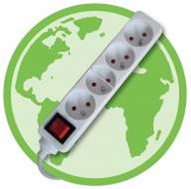 Eqwergy - Bloc 4 prises avec interrupteur