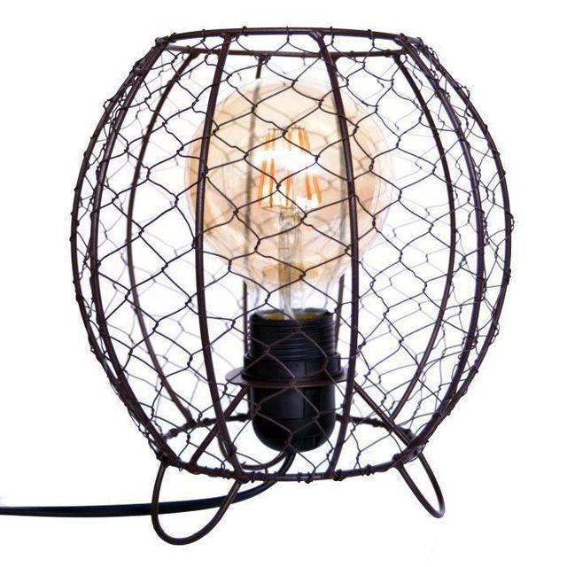 Aucune Wyria Lampe Grillage Esprit Industriel H21cm Ideal Avec Une