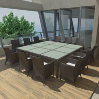 table salle a manger 12 personnes - achat table salle a manger 12