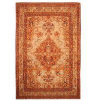 mon beau tapis tapis orient vintage 145x200cm orange - Tapis Orange