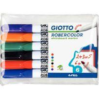 Robercolor - feutres tableau blanc pointe moyenne ogive assortis - etui de 6