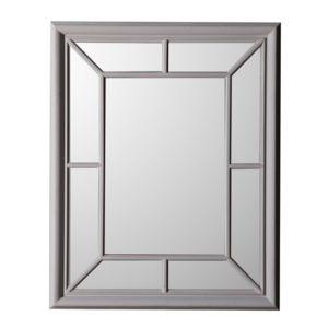 mathilde et pauline miroir fen tre en bois paulownia 81x100cm colombine gris pas cher achat. Black Bedroom Furniture Sets. Home Design Ideas