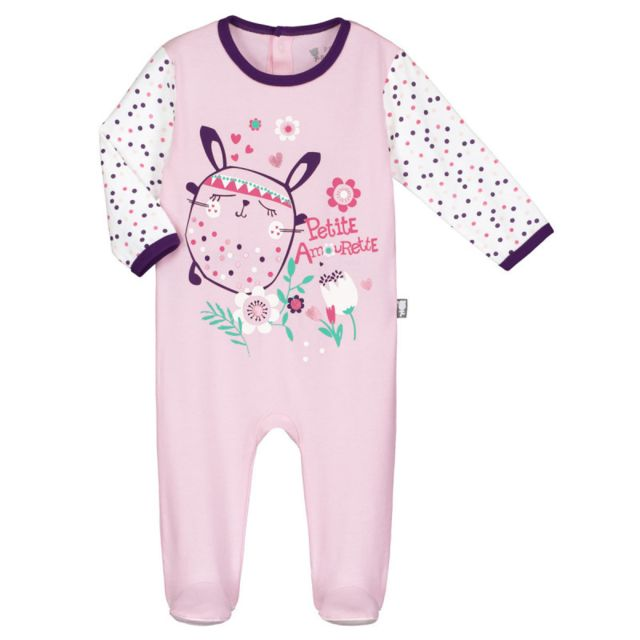 Petit Beguin - Pyjama bébé Plumette - Taille - 12 mois Rose - pas ... d815bd7a0f9