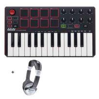 Akai - Pack Mpk Mini Mkii - Mini clavier Pads Usb 25 notes + Casque