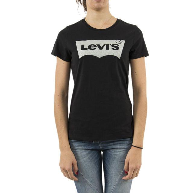 ca305248392 Levi s - Tee shirt levis 17369 the perfect tee noir - pas cher Achat ...