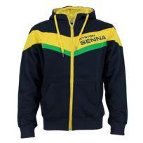 Ayrton Senna - Sweat zippé Racing noir pour homme taille L