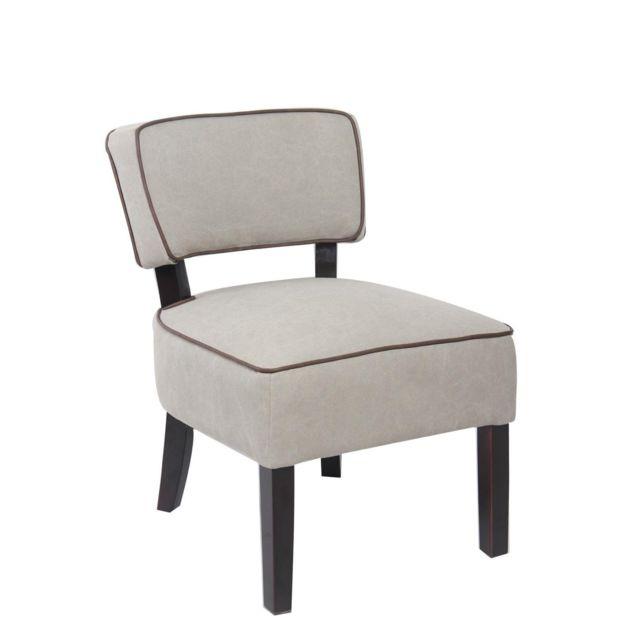 Kayelles Capri fauteuil cocktail tissu et piètement bois Sable