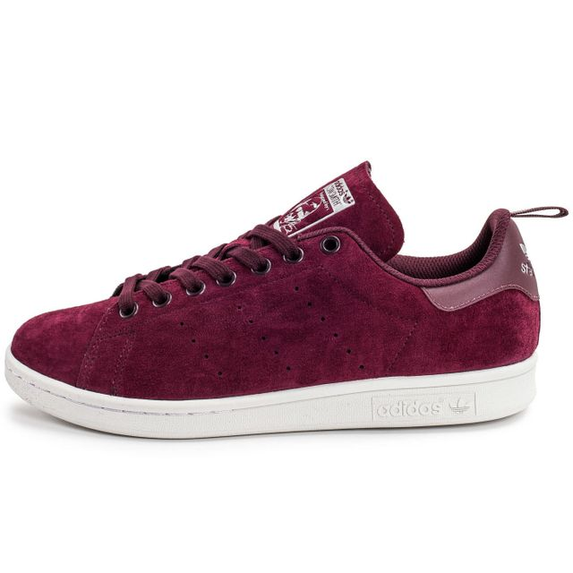 Adidas originals Stan Smith Suede Bordeaux pas cher