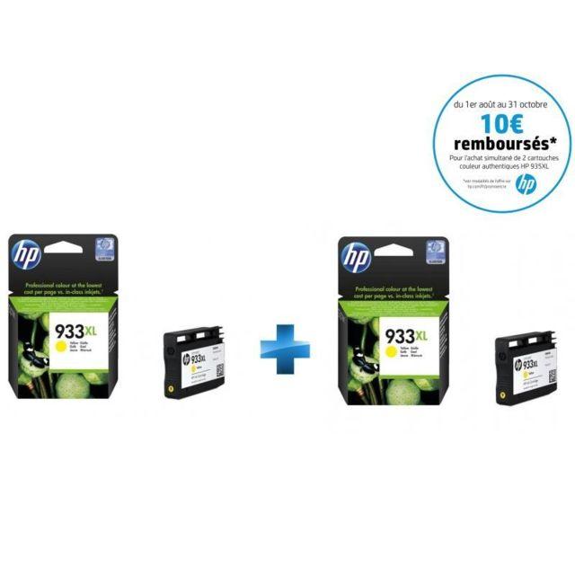 HP CN056AE - Pack de 2 x 933XL Jaune - 2 Cartouches d'encre Jaune