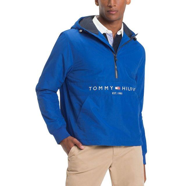 Tommy hilfiger - Anorak avec logo rembourré Tommy Hilfiger. Couleur   Bleu  Roi c3c0e77a60c1