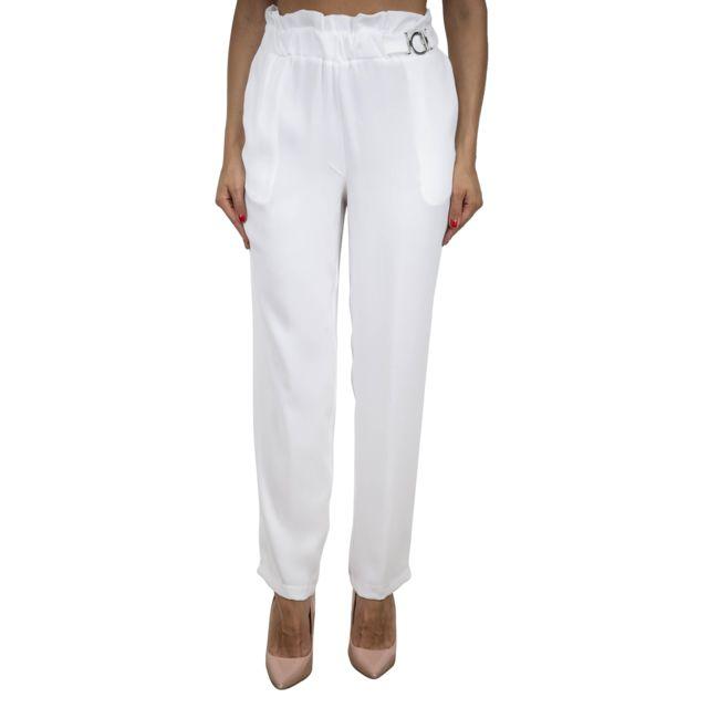 Dixie Femme P118L0221100 Blanc Coton Pantalon