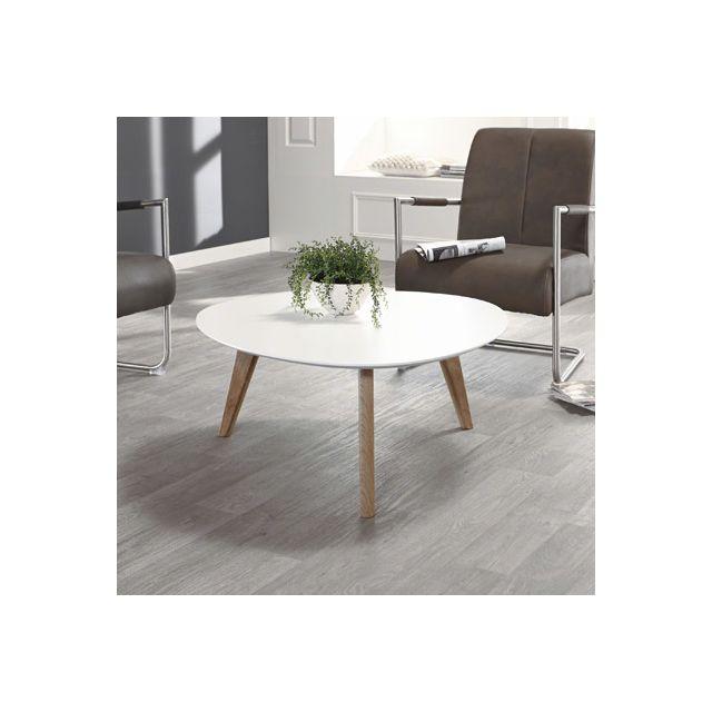 Table basse 90x90x40cm - blanc