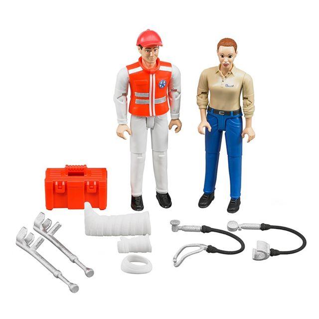 Bruder 62710 Set de deux figurines - Ambulancier et victime