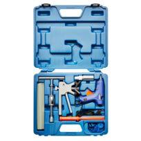 Kraftplus - K.872-5010 Jeu d'outils de débosselage avec pistolet de colle