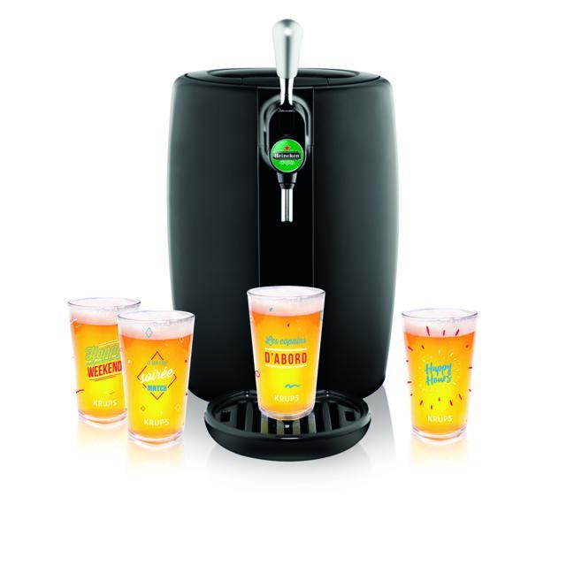 Seb Machine à bière BeerTender + 4 verres - Yy4144FD - Noir
