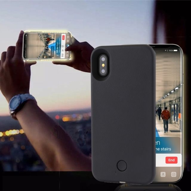 coque iphone 8 plus lumiere selfie