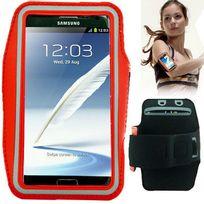 Techexpert - Brassard tour de bras pour Samsung Galaxy Note 2 Note 3 Note 4 Note 5 rouge