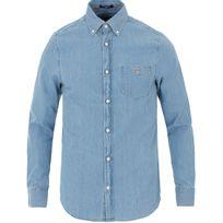 Gant - Chemise oxford bleu