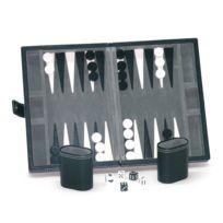 France Cartes - Backgammon façon cuir Noir