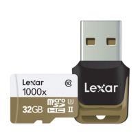 Lexar - Carte Micro-SDHC 32 Go 1000x 150 Mo/s Uhs-ii avec adaptateur