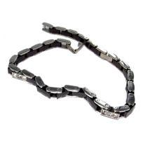 Fantzi - Bracelet en acier L 316 avec céramique et strass - 20,5 cm