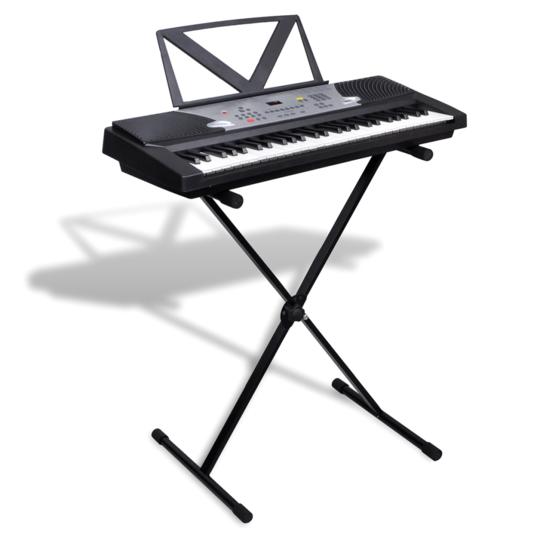 Rocambolesk - Superbe Clavier électrique + support musical + support ajustable de clavier Neuf
