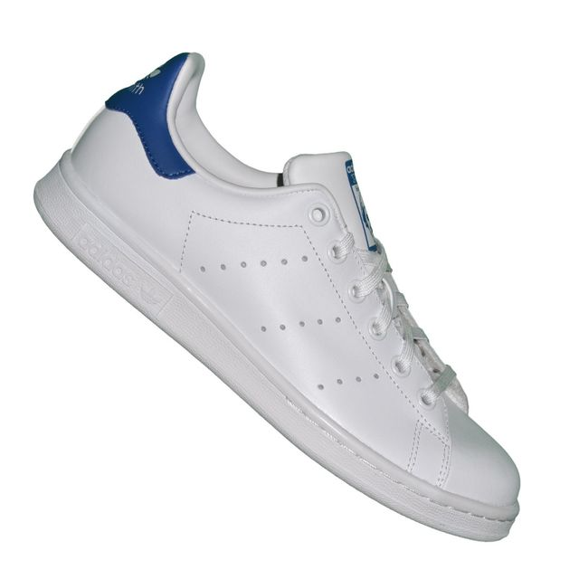 Adidas originals - Baskets - Stan Smith J - Blanc Bleu Royal