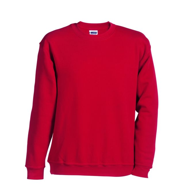 finest selection los angeles classic fit Sweat-shirt col rond - Jn040 - rouge - mixte homme femme