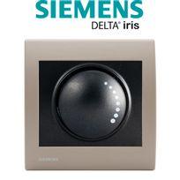 Siemens - Va et Vient Variateur 500W Anthracite Delta Iris + Plaque Soft Taupe