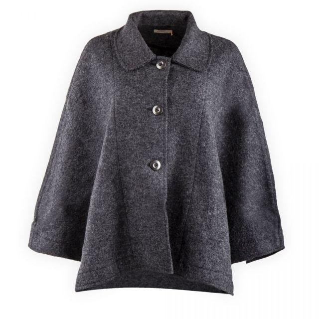 b02e1af0733e Ddp - Cape manteau gris Femme - pas cher Achat   Vente Veste femme -  RueDuCommerce