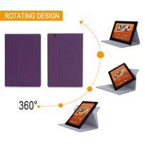 Xeptio - Sony Xperia Z4 Tablet - Housse protection UltimKaz Cuir Style violette - Etui coque