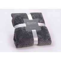Amadeus - Plaid Damier Gris Anthracite 130x170