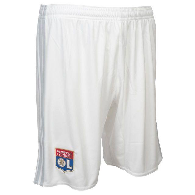 fd8782f7c1802 Adidas - Short de football Ol short h 17 18home Blanc 74753 - pas ...