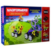 Magformers - 274-36 - Jouet D'AIMANT - Zoo Racing - 55 PiÈCES