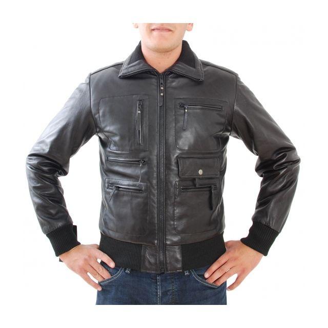 11bb76f729f5 Eagle Square - Blouson Colombia Noir - pas cher Achat   Vente Blouson homme  - RueDuCommerce