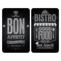 Wenko - Set de 2 Protège-Plaques Universelles Bon Appétit