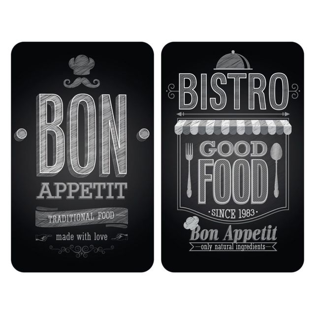 Wenko Set de 2 Protège-Plaques Universelles Bon Appétit