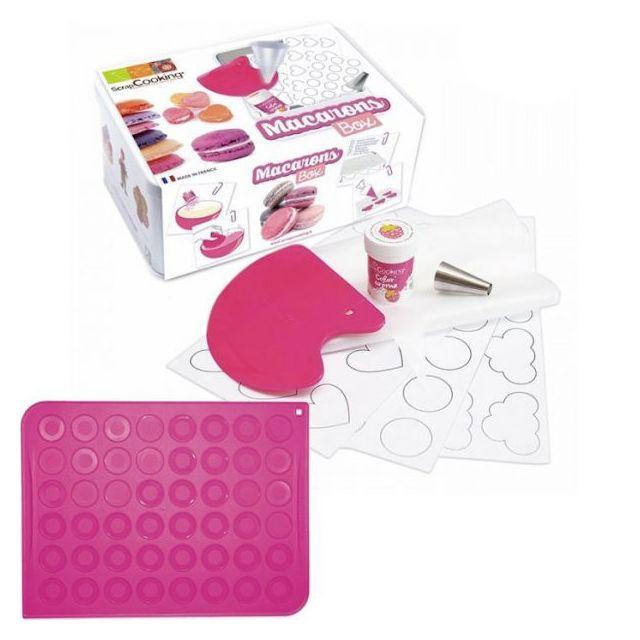 Scrapcooking Coffret de préparation + tapis silicone pour Macarons