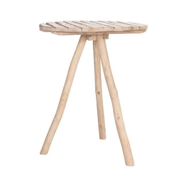 Tousmesmeubles Table de bar Bois naturel - Chilo