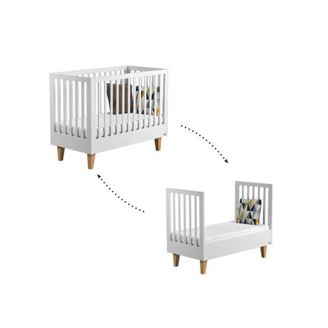 vox lit volutif blanc 70x140 collection lounge matelas 70cm x nccm pas cher achat vente. Black Bedroom Furniture Sets. Home Design Ideas