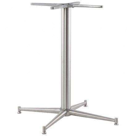 TECHNEB Pied de table VERON forme croix en métal 70cmX70cmX75cm