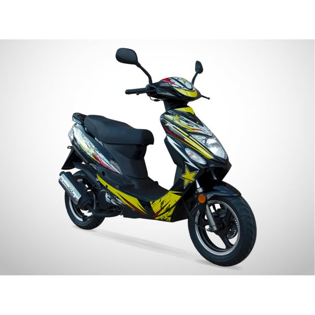 jiajue scooter 50cc 2t spiro 50 dition limit e 2018 s rie sp ciale jaune achat vente. Black Bedroom Furniture Sets. Home Design Ideas