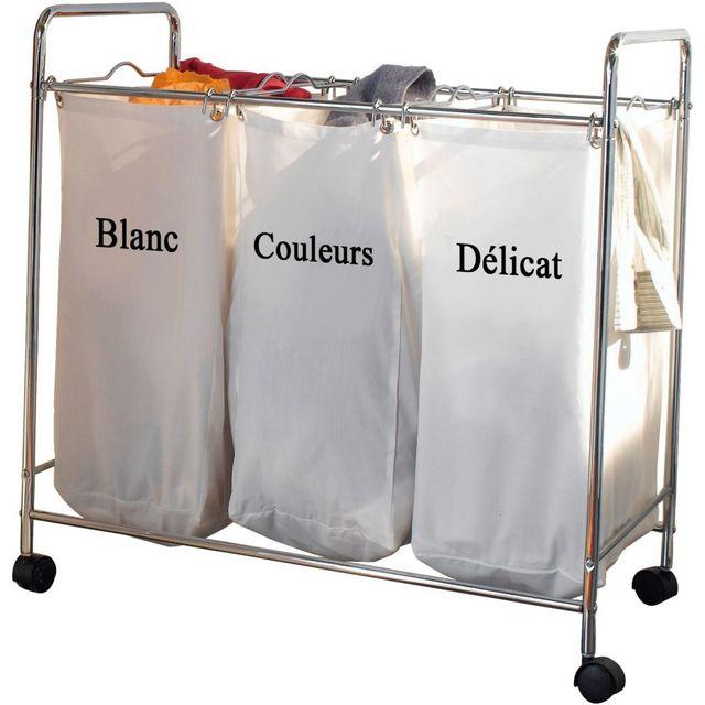 """Compactor - Bac à linge 3 compartiments """"Nova - pas cher Achat / Vente Panier à linge ..."""