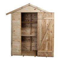 - Abri de jardin à étagères en bois Léo 150x70x220cm
