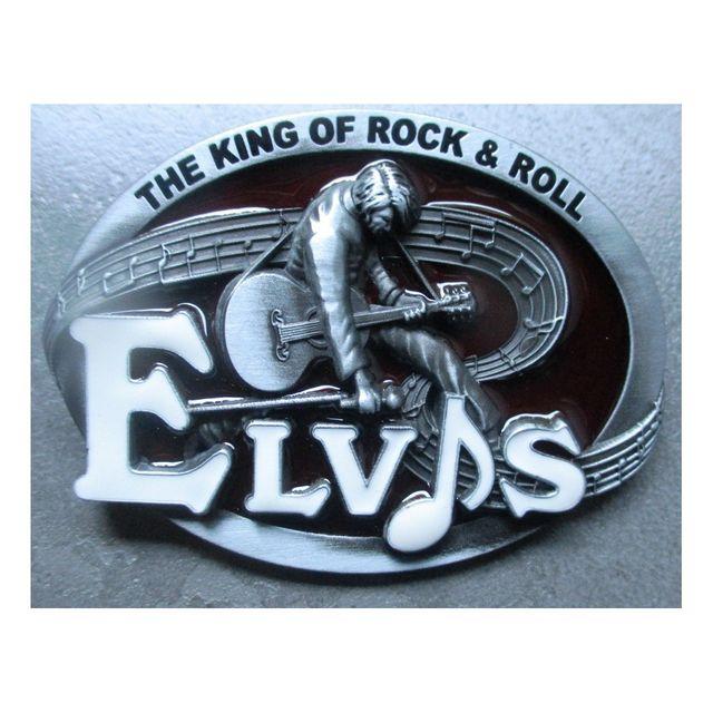 Universel - Boucle de ceinture elvis presley ovale bordeau rock roll - pas  cher Achat   Vente Objets déco - RueDuCommerce 277aa9d840f