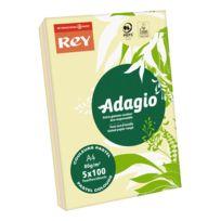 Rey - Ramette papier couleur Adagio couleurs pastel assorties A4 80 gr - 5 x 100 feuilles