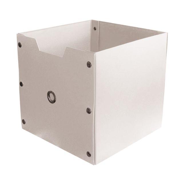 5fff51ebb502c1 Panier carton blanc 27x27x27cm - pas cher Achat   Vente Corbeille ...